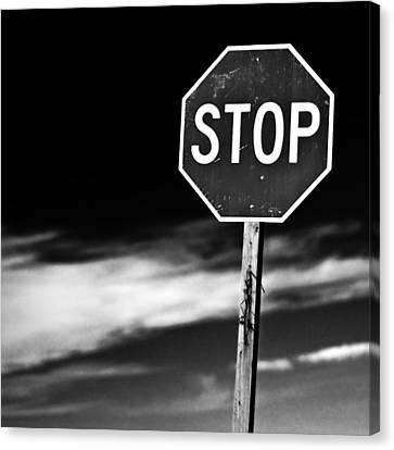 Stop Canvas Print