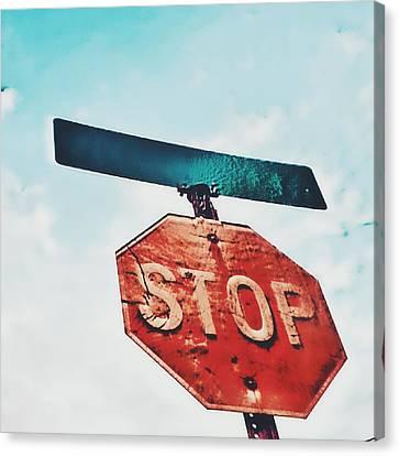 Stop Canvas Print by Jenn Teel