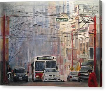 Stop Light Canvas Print by Victoria Heryet