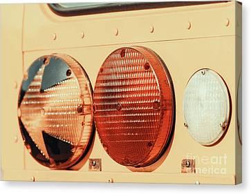 Stop Lights On American School Bus Canvas Print