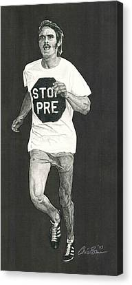 Jogging Canvas Print - Stop Pre by Chris Brown