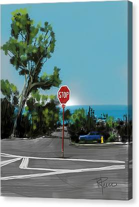 Stop Canvas Print by Russell Pierce