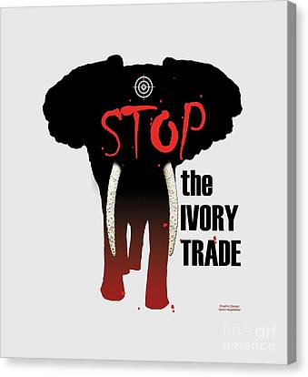 Stop The Ivory Trade Canvas Print by Galen Hazelhofer