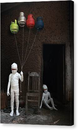 Stop... (victims Of Gas Cylinders) Canvas Print