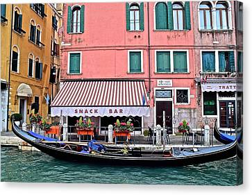 Gondola Ride Canvas Print - Stopping Off At The Store by Frozen in Time Fine Art Photography