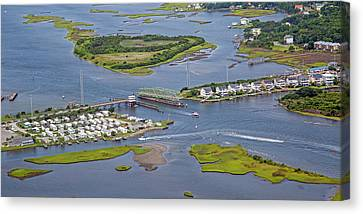 Food Store Canvas Print - Stopping Traffic Topsail Island by Betsy Knapp