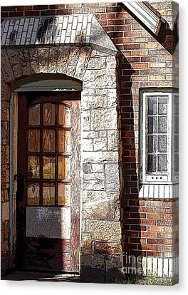 Storage Door Canvas Print by Steve Augustin