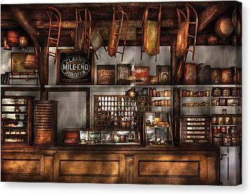 Store - Old Fashioned Super Store Canvas Print by Mike Savad