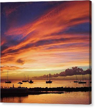 Sunset Canvas Print - Store Bay, Tobago At Sunset #view by John Edwards