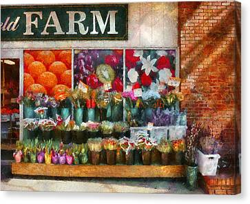 Store - Westfield Nj - The Flower Stand Canvas Print