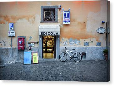 Storefront In Rome Canvas Print