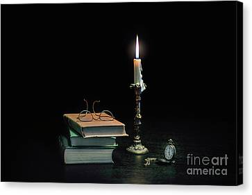 Stories In The Dark Canvas Print by Evelina Kremsdorf