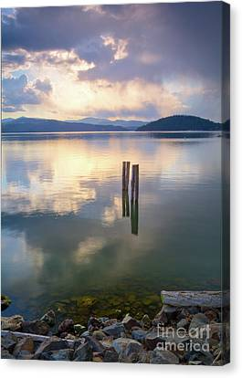 Storm Across The Bay Canvas Print by Idaho Scenic Images Linda Lantzy