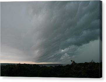Storm Approaches Montauk Canvas Print by Christopher Kirby