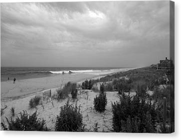 Storm Approaching - Jersey Shore Canvas Print by Angie Tirado