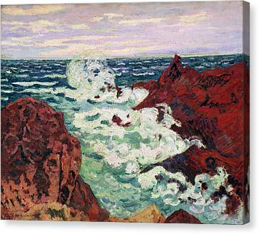 Storm At Agay Canvas Print by Jean Baptiste Armand Guillaumin