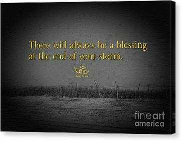 Storm Blessings Canvas Print