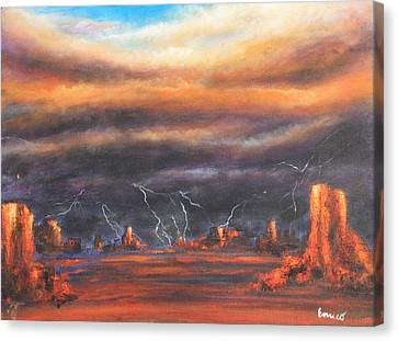 Storm Break Canvas Print by Art Enrico