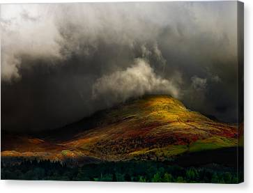 Dappled Light Canvas Print - Storm Brewing Over Hawkshead by Meirion Matthias