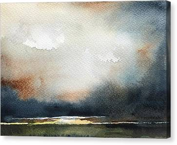 Storm Brewing Canvas Print by Stephanie Aarons