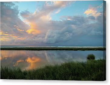 Storm Cloud Reflections At Sunset Canvas Print