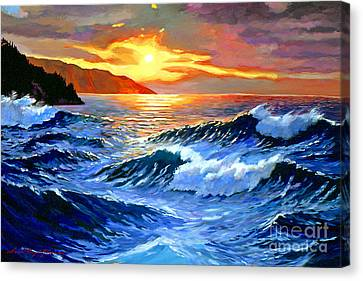 Storm Clouds - Catalina Island Canvas Print by David Lloyd Glover