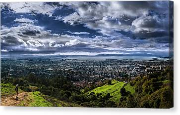 Storm Clouds And Bay Views, Claremont Canyon Regional Preserve Canvas Print by Fred Rowe