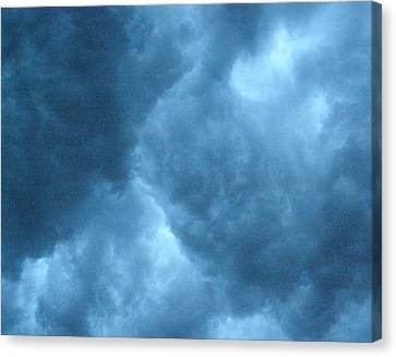 Canvas Print featuring the photograph Storm Clouds by Angie Rea