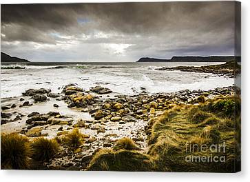 Storm Clouds Over Cloudy Bay Canvas Print by Jorgo Photography - Wall Art Gallery