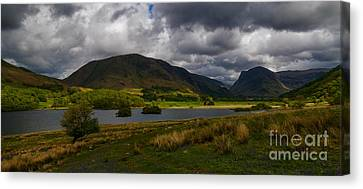 Storm Clouds Over Crummock Water Canvas Print by John Collier