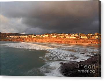 Kernow Canvas Print - Storm Clouds Over Polzeath by Carl Whitfield