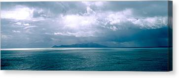 Wellington Canvas Print - Storm Clouds Over The Sea, New Zealand by Panoramic Images