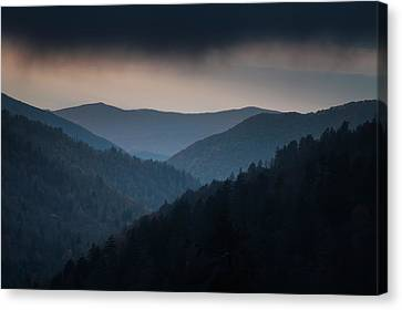 Storm Clouds Over The Smokies Canvas Print by Andrew Soundarajan