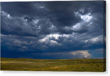 Canvas Print featuring the photograph Storm Clouds To The East by Monte Stevens