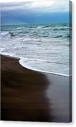 Canvas Print featuring the photograph Storm Coast by Frank Tschakert