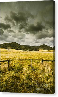 Storm Covered Winter Farmland Canvas Print by Jorgo Photography - Wall Art Gallery