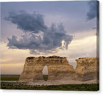 Canvas Print featuring the photograph Storm Dragon by Rob Graham