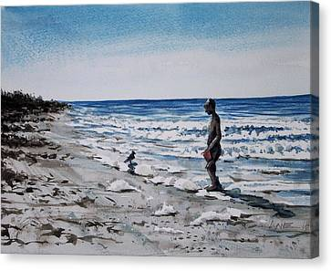 Storm Foam Canvas Print
