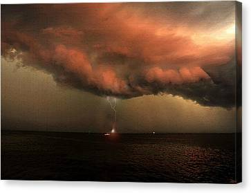Storm Front Squall Line Canvas Print by David Lee Thompson