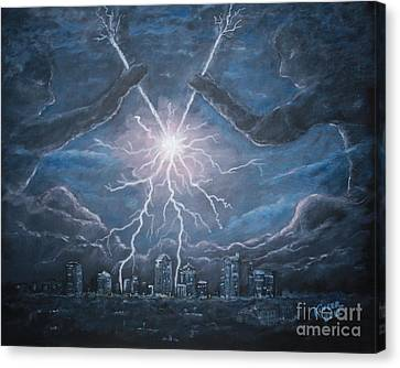 Storm Games Canvas Print by Marlene Kinser Bell