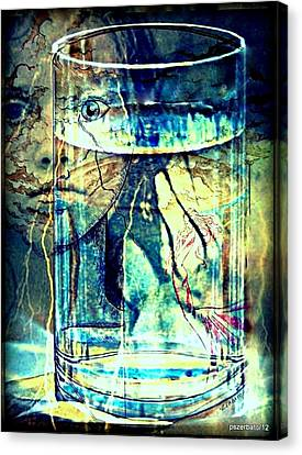 Storm In A Glass Of Water Canvas Print by Paulo Zerbato
