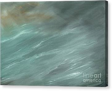 Stormy Weather Canvas Print - Storm In Deep Ocean by Vincent Alexander Booth
