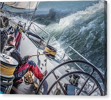 Storm In San Francisco Bay Canvas Print by Michael Delman
