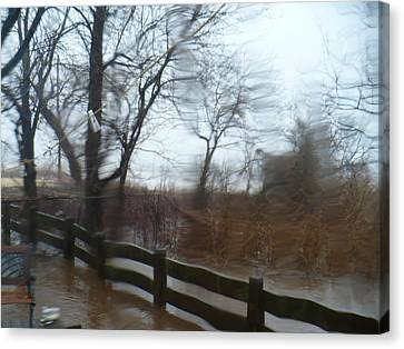 Canvas Print featuring the photograph Storm In Staten Island by Desline Vitto