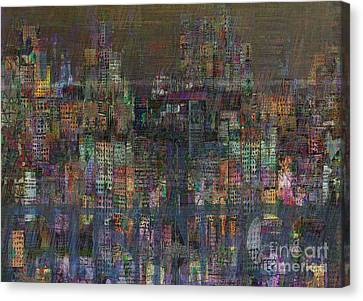 Storm In The City  Canvas Print by Andy  Mercer