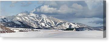 Storm Mountain Canvas Print by Daniel Hebard