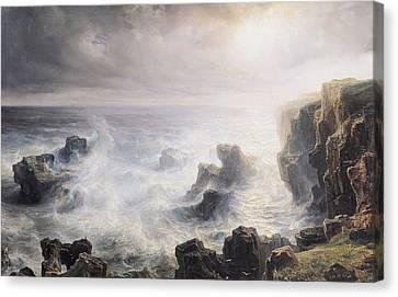 Storm Off The Coast Of Belle Ile Canvas Print