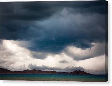 Storm On Karakul Lake Canvas Print
