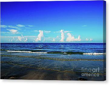 Canvas Print featuring the photograph Storm On The Horizon by Gary Wonning