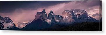 Storm On The Peaks Canvas Print by Andrew Matwijec